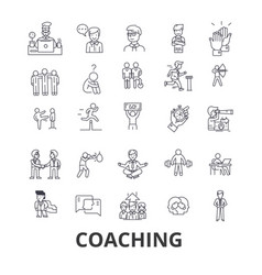 Coaching sport coach mentor coach bus life vector
