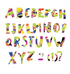 Colorful alphabet capital letters vector