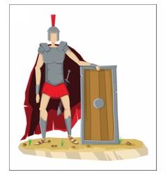 Digital tall roman legionnaire with armor vector