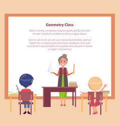 Geometry class web banner with place for text vector