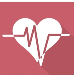 Heart rhytm cardiogramm medical icon vector