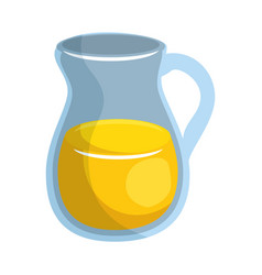 juice jar glass vector image