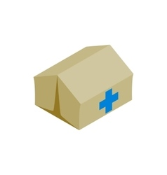 Medical center for refugees icon isometric style vector image