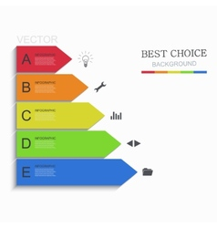 modern arrow infographic element design vector image vector image