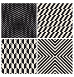 Pattern background set retro vintage vector