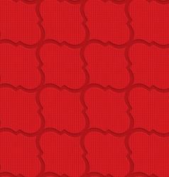 Red checkered diagonal Marrakesh vector image