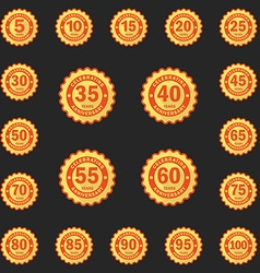 Set of Anniversary emblems logo templates Flat vector image vector image