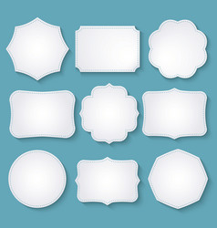 set of paper decorative frames vector image