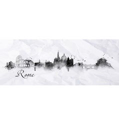 Silhouette ink Rome vector image