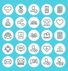 Social icons set collection of communication vector