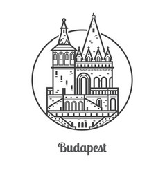 travel budapest icon vector image vector image