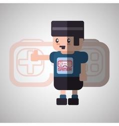 Videogame icon design vector image vector image
