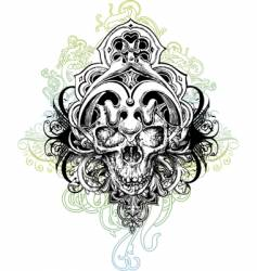 warrior skull illustration vector image vector image