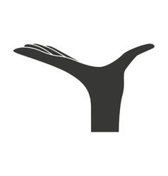 hand waiter restaurant icon vector image