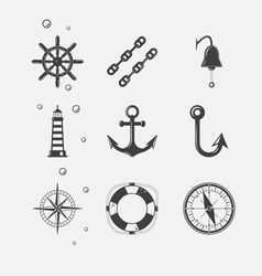 Sea black icon vector