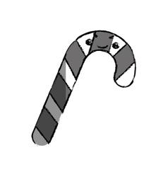 Xmas candy stick vector