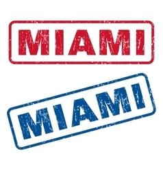 Miami rubber stamps vector