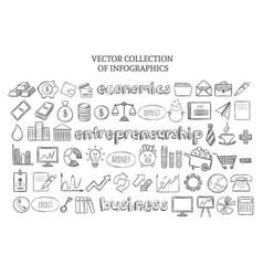 Infographic economics elements set vector