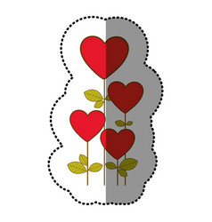 color heart balloons trees icon vector image