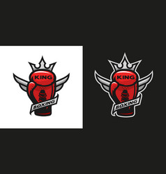 boxing king boxing glove logo vector image