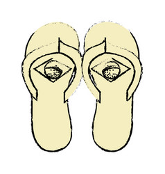Brazilian flip flops icon vector