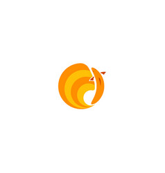 Goldfish logo golden fish round emblem for seafood vector