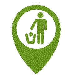 Green Clover of Recycling Icon in Navication Icon vector image