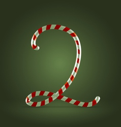 Candy cane abc 2 vector
