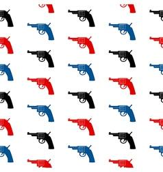 Revolver symbol seamless pattern vector