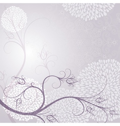 Delicate tender light purple frame vector
