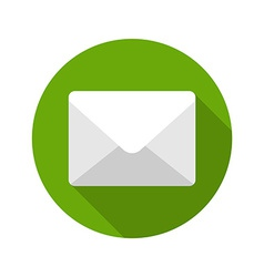 Flat e-mail envelope delivery news message vector