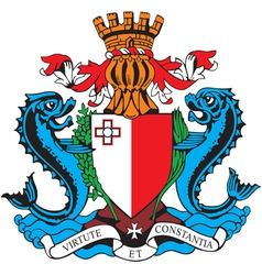 Ial image of coat of arms of malta vector