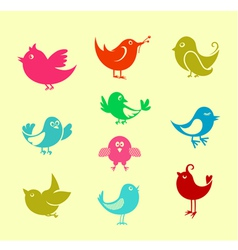 Cartoon doodle birds vector