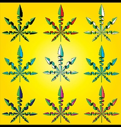 Marijuana cannabis design leaf symbol vector