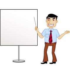 Presenter cartoon vector image
