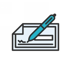 Check outline icon vector