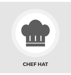 Chef hat flat icon vector image