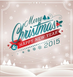 Christmas design with typographic design vector