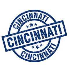 Cincinnati blue round grunge stamp vector