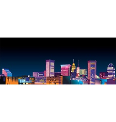 city illustration vector image vector image