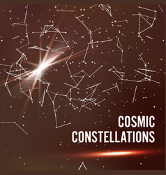 cosmic constellations abstract background vector image