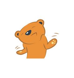 cute bear ignoring vector image vector image