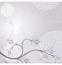 Delicate tender light purple frame vector