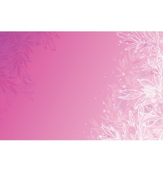 Glowing pink tree branches horizontal background vector image