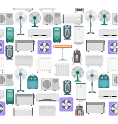 heating devices background pattern vector image vector image