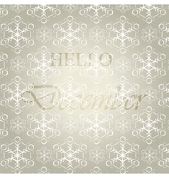 Hello december background vector