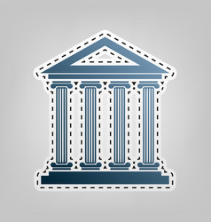 Historical building blue vector