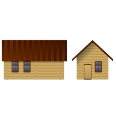 House made of logs vector