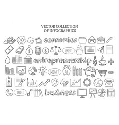 infographic economics elements set vector image