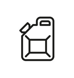 jerrycan icon on white background vector image